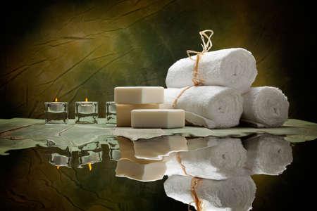 Fournitures Spa - savon et des serviettes