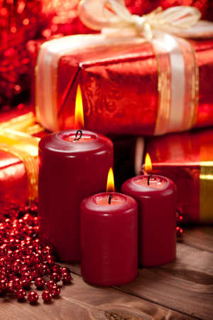 Candles and gift Stock Photo - 10582681