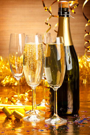 champagne flute: New Years Party Decoration