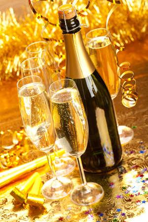 sektglas: Silvester - Party Dekoration