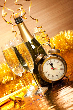 new years eve background: Party decoration - New Years Day Stock Photo