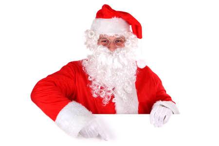 Santa Claus and blank sign