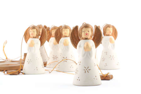 Little Angels on white background photo