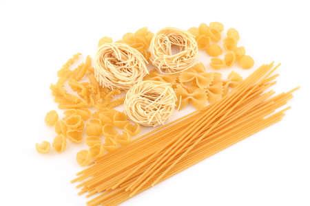 Assorted macaroni on white background Stock Photo - 10607834