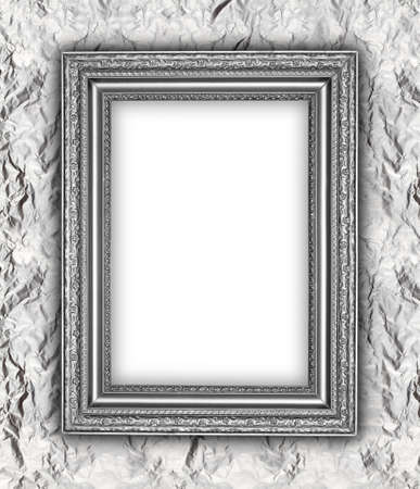 Silver background - old frame photo