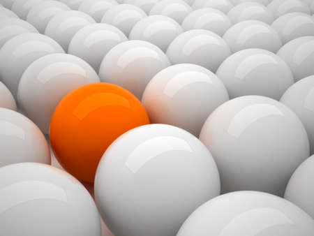 individuality: Individuality - orange ball