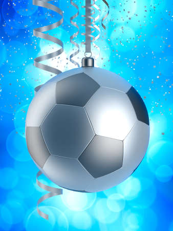 Chrismas bauble like football photo