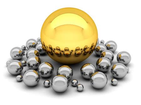 Leadership concept illustration - balls illustration