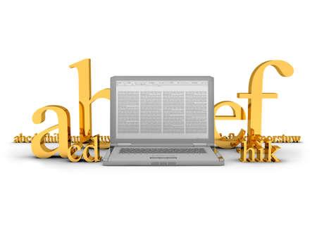 copywriting: Copywriting - concept illustration