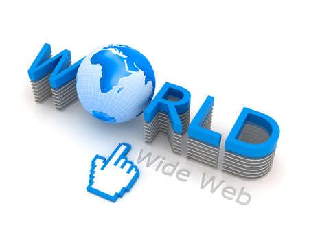 World Wide Web - internet symbols Stock Photo - 11988514