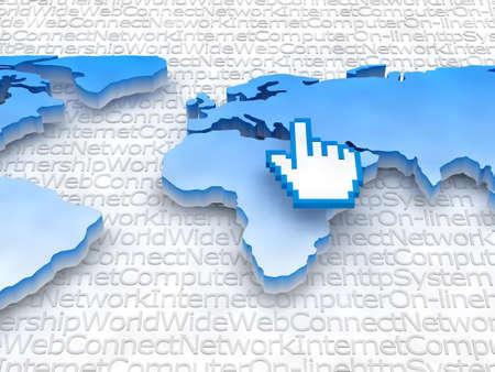 Internet - Global network concept illustration Stock Illustration - 11988526