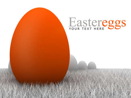 Easter eggs - gray and orange