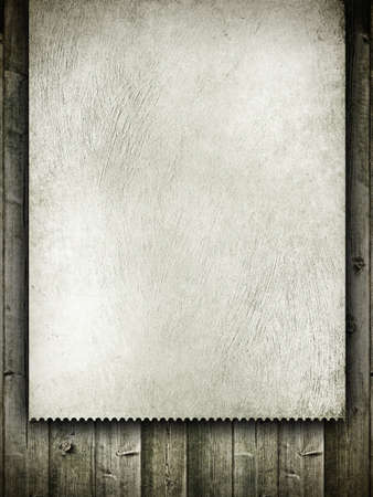 Template design - grunge card on wood background photo