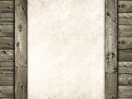 Wood and sheet - grunge background photo