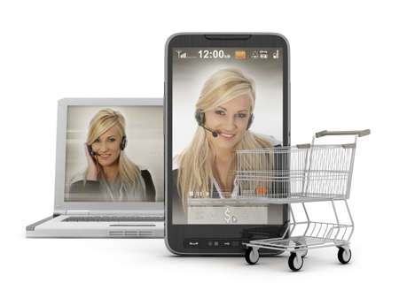 Mobile shopping - On-line Support Stock Photo - 13545849