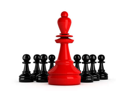 lideres: Liderazgo - ilustraci�n del concepto