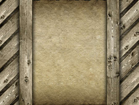 Template - canvas and wood background photo