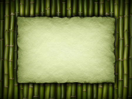 Template - paper sheet on bamboo background photo