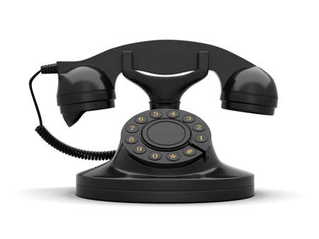 offiice: Telephone isolated on white  Stock Photo