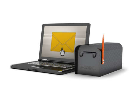Laptop and mailbox - concept illustration illustration