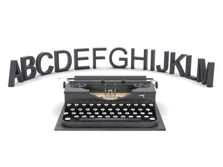 authorship: Typewriter and letters