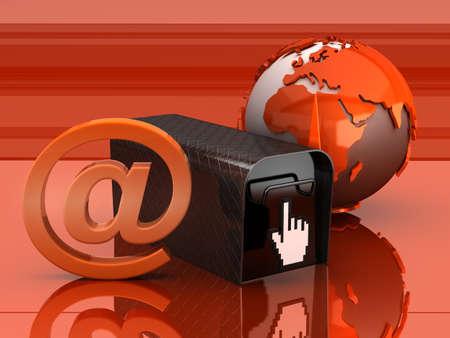 E-mail concept illustration Stock Illustration - 16478166