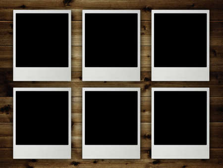 Template - Blank pictures on planks photo