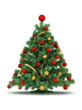 Christmas tree on white background photo