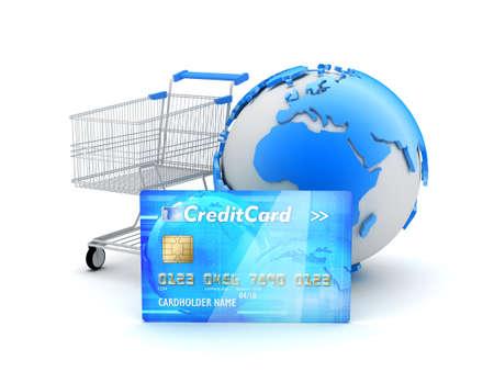 On-line shopping - concept illustration Stock Photo
