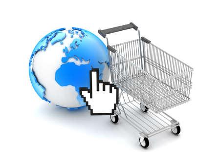 E-shopping - Concept illustration Stock Illustration - 17564815