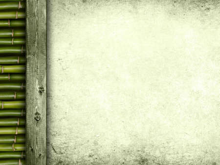 Template - bamboo, plank and paper sheet photo
