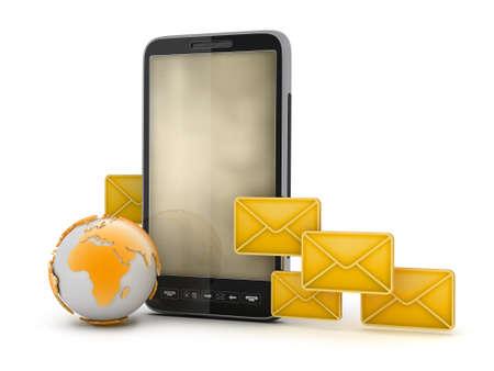 Short Message Service - mobile technology Stock Photo - 18873888