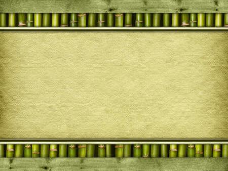bamboo background: Canvas sheet on bamboo sticks