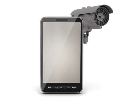 Video surveillance camera and cell phone photo