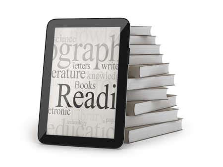 E-books concept illustration Stock Photo