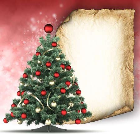 Christmas card template photo
