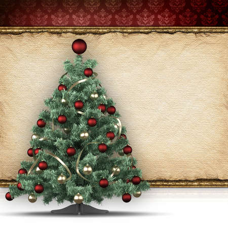 Christmas background - xmas tree and blank space for text photo