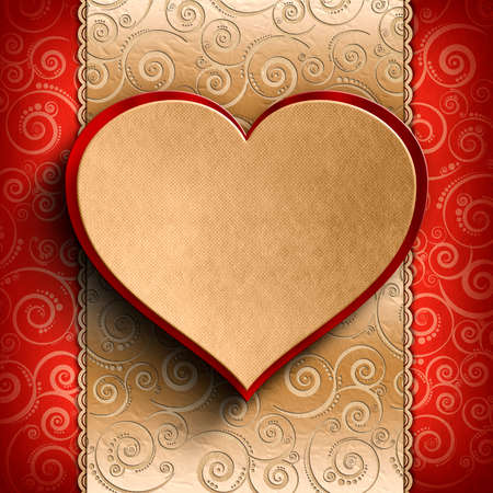 Valentines Day background - Greeting card template photo