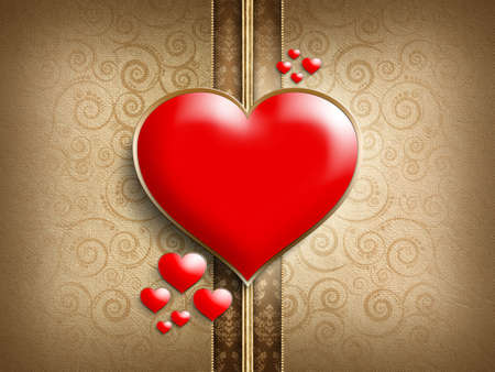 Valentine's Day - background of greeting card template photo