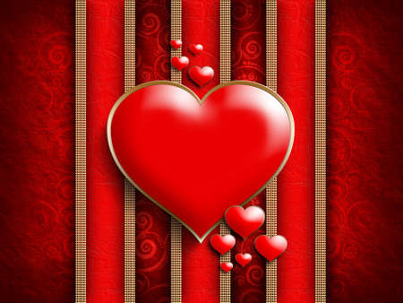 Valentines Day - background of greeting card template photo