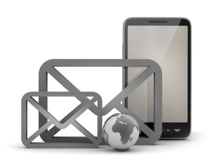 Mobile Internet Symbols Concept Illustration Stock Photo Picture