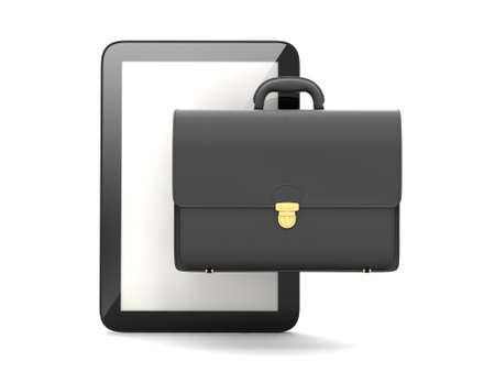 palmtop: Tablet computer and business briefcase