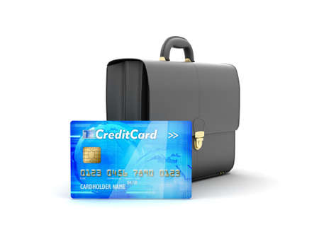 Business briefcase and credit card - concept illustration illustration