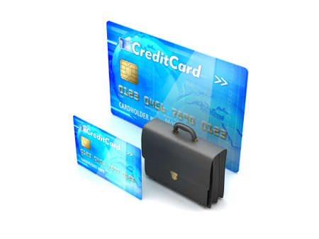Two credit cards and business briefcase - concept illustration illustration