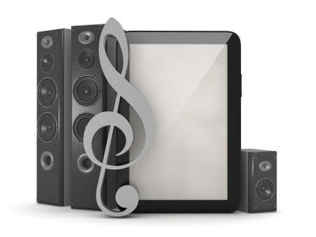 sub woofer: Home theatre system, tablet computer and clef