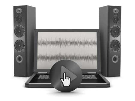 sono: syst�me de son de l'ordinateur - portable et haut-parleurs