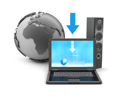 Symbols music downloads - concept illustration illustration