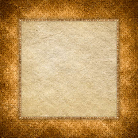 double page: Blank handmade paper sheet on grunge background