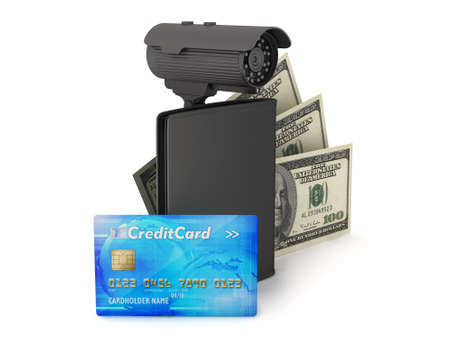 billfold: Safety money concept illustration Stock Photo