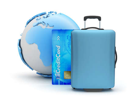 Travel around the world - concept illustration Stock Photo